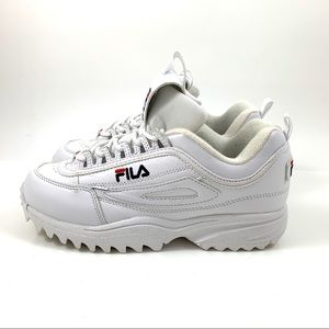 NWOT FILA DISRUPTOR white leather sneakers